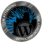 WordCamp Detroit Logo badge