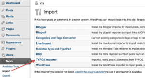 Typo3 WordPress importer