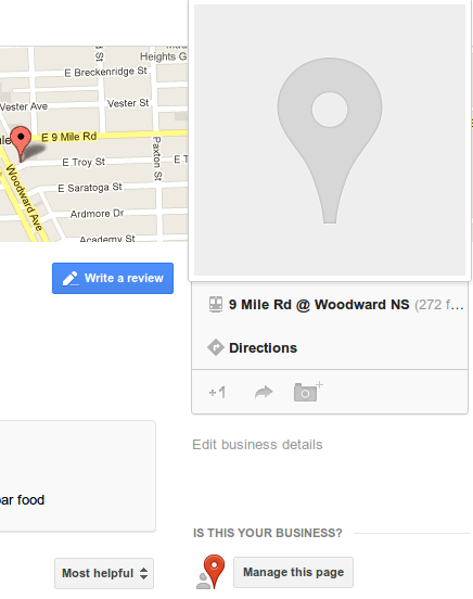 qGoogle+ Local Business Listing example